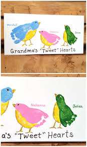 handmade grandparent gifts s tweet hearts kids footprint canvas grandkids