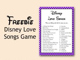 Wedding Shower Games Free Disney Love Song Bridal Shower Game Bridal Shower Ideas