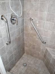 Handicapped Bathroom Showers Handicap Shower With Grab Bars Design Pinterest Grab Bars