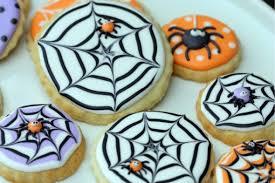 decorated cookies how to make a spider web decorated cookie sweetopia