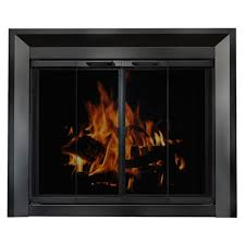 Fireplace Glass Replacement by Glass Fireplace Doors In Black