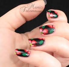 manic talons gel polish and nail art blog not one stroke flower