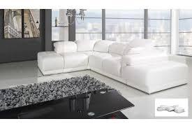 canapé d angle convertible cuir blanc canape cuir blanc d angle intérieur déco
