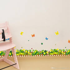 Mural Stickers For Walls Flowers Fence Butterfly Wall Art Mural Decal Sticker Home