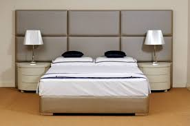 modern bed with wall panel headboard robinsons beds