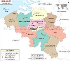 belguim map belgium provinces map major tourist attractions maps