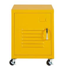 Metal Bedside Table Yellow Metal Bedside Table On Wheels Loft Maisons Du Monde