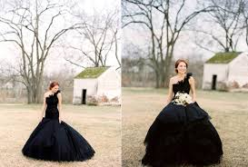 black wedding gowns 2012 fashion trendy