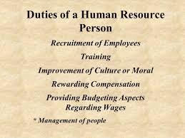 human resource management human resources and job skills