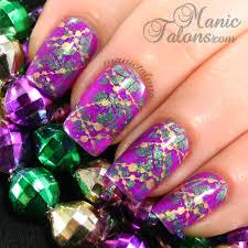 manic talons gel polish and nail art blog mardi gras nail art