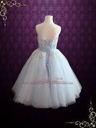 ice blue retro tea length ballerina style formal dress kelsey