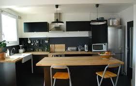 cuisine repeinte en noir cuisine en chene repeinte en magnifique cuisine repeinte en noir