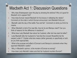 macbeth act 1 discussion questions