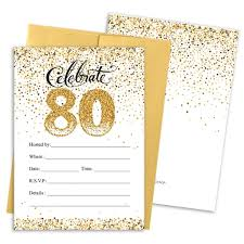 80th birthday invitation cards images invitation design ideas