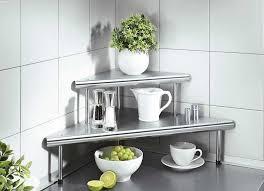 eckregal küche eckregal küche edelstahl mit abstellfläche klein im installation