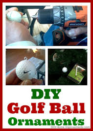 diy golf ornaments dio home improvements