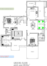 11 1600 square feet four bed room house plan architectural plans