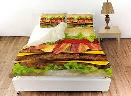 cheeseburger bedding set duvet cover and pillow shams cool fun