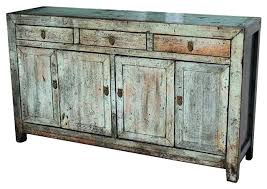 distressed white sideboard natural wood distressed buffet buffets