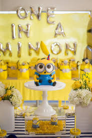 minion baby shower ideas this one in a minion birthday party will your kiddo going