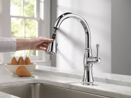 Tall Kitchen Faucet With Spray by Delta Cassidy Single Handle Pull Down Kitchen Faucet With Spray