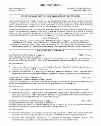 Personal Attributes Resume Examples by Resume Sample 17 Supply Chain Management Resume Career Resumes