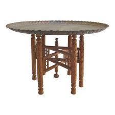 moroccan tea table stand vintage used moroccan tables chairish