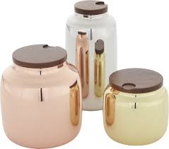 silver kitchen canisters cb2 3 capsule canister set canister sets stainless steel