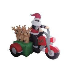 Christmas Decorations Life Size Reindeer by Christmas Inflatable Santa On Motorcycle Bing Images Biker