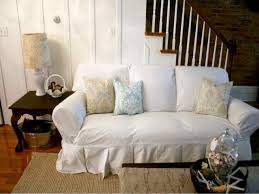 White Slipcovered Sectional Sofa by Furniture Best Way To Change Up Your Living Room With Pottery
