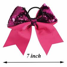 handmade bows online shop 7 reversible mermaid sequin cheer bows with ponytail