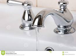 silver chrome bathroom tap faucets running water royalty free