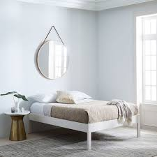 Bed Frame White Simple Bed Frame White West Elm