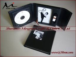 5x7 Wedding Photo Albums Wedding Leather Cd Dvd Usb Flash Drive Package Gift Box Holder 4x6