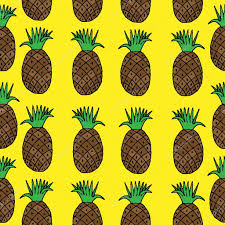 fruit by mail seamless pattern with pineapple fruit stock vector ellina200