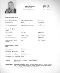 Beginning Actor Resume Actors Cover Letter Image Collections Cover Letter Ideas