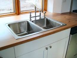 countertops stainless steel double bowl sink butcher block full size of stainless steel double bowl undermount kitchen sink three holes kitchen faucet butcher block