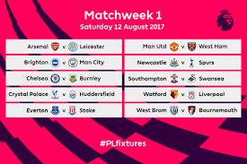 Jadwal Liga Inggris Ini Jadwal Liga Inggris Musim 2017 2018 Lengkap