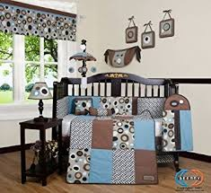 Crib Bedding Sets Geenny Boutique 13 Crib Bedding Set Blue Brown
