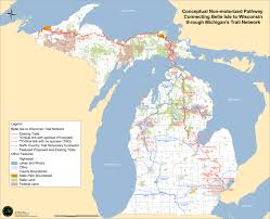 Michigan County Map With Cities by Belle Isle M Bike Org