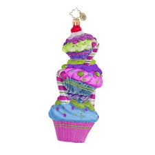 1016466 leaning tower of cupcake stack of cupcakes ornament