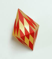 hexagonal bipyramid papercraft ornament and christmas ornament