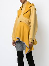 yellow sweater dress undercover layered frilled sweater dress 1 425 buy