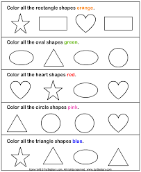 identify and color shapes worksheet turtle diary