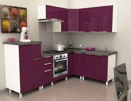cdiscount cuisine meuble cuisine cdiscount 2 caisson angle bas 80 cm aubergine