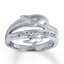 dolphin engagement ring clearance 14k gold 1 6 carat t w dolphin ring