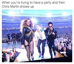 Chris Martin Meme - when you re trying to have a party sidelined chris martin
