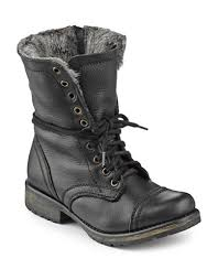 hudson bay s boots shoes mid boots trooka faux fur lined combat boots