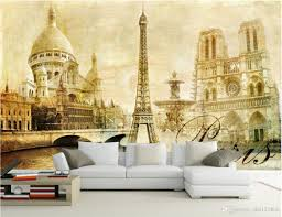 3d room wallpaper custom photo mural european paris eiffel tower