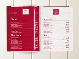 5 course menu template food menu brochure template by dogmadesign graphicriver